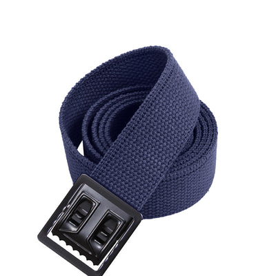 Black Web Belts with Open Face Buckle Navy Blue