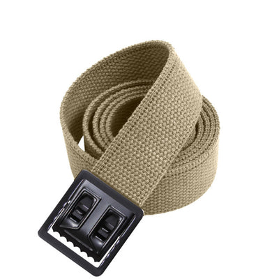 Black Web Belts with Open Face Buckle Khaki