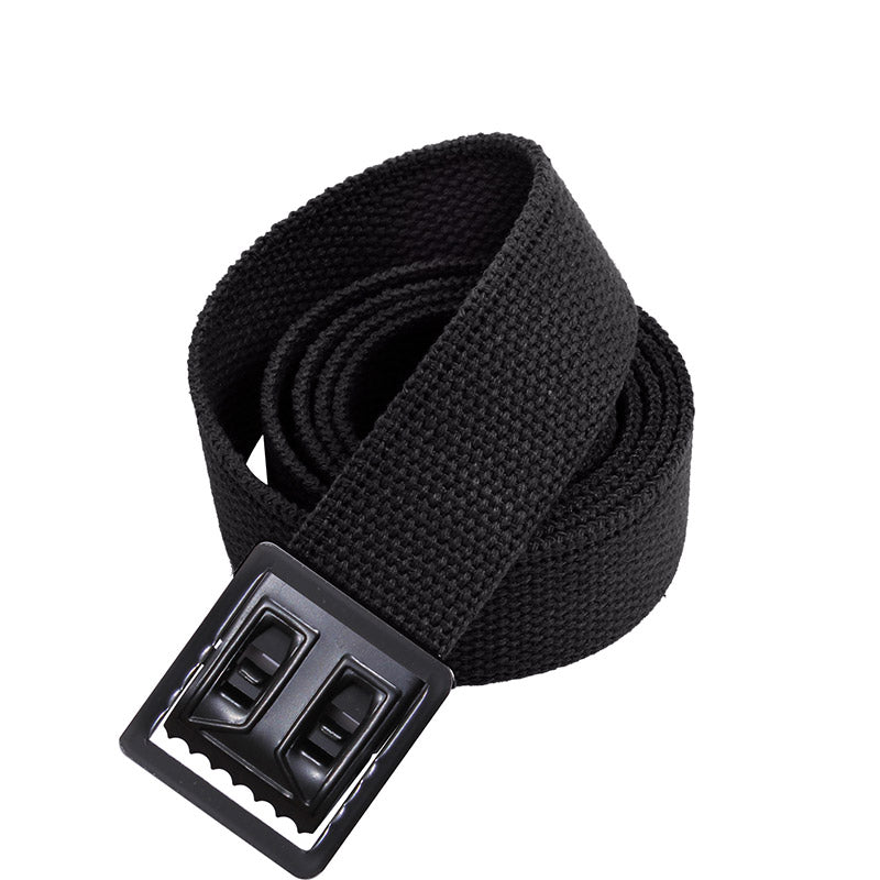 Black Web Belts with Open Face Buckle