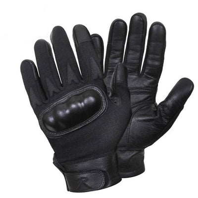 Hard Knuckle Cut and Fire Resistant Gloves in Black