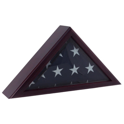 Personalized Flag Display Case 5'x9' Black Cherry