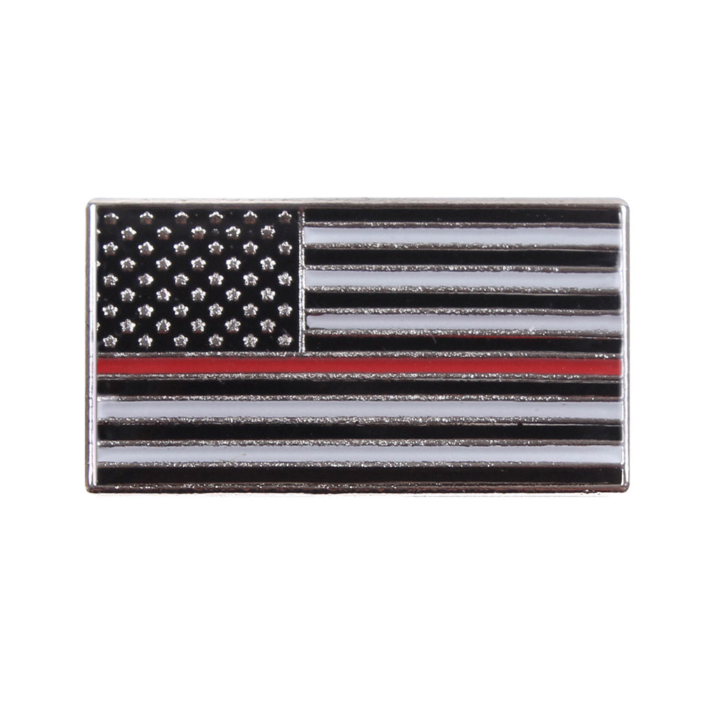 Thin Red Line Flag Lapel Pin