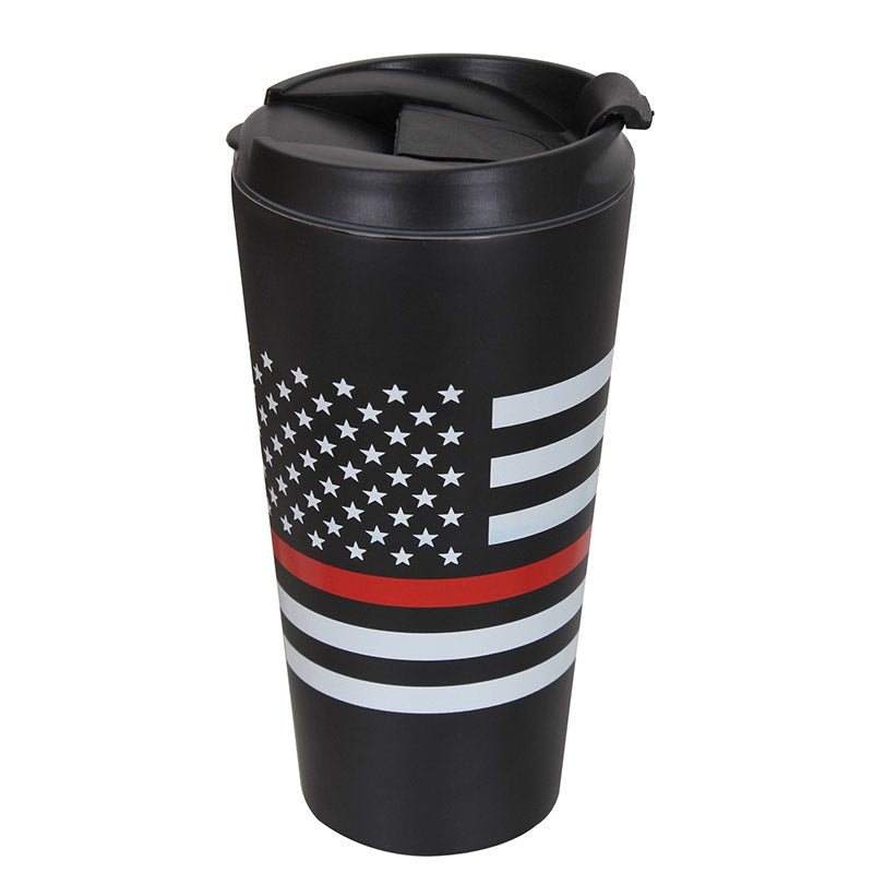 Thin Red Line 16 Ounce Stainless Steel Travel Mug