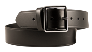 Black Leather Garrison Belt
