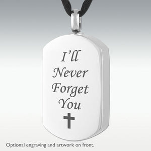 Dog Tag Stainless Steel Cremation Jewelry Engravable