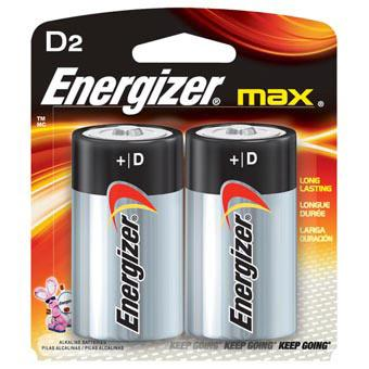 ENERGIZER D Batteries 2 Pack