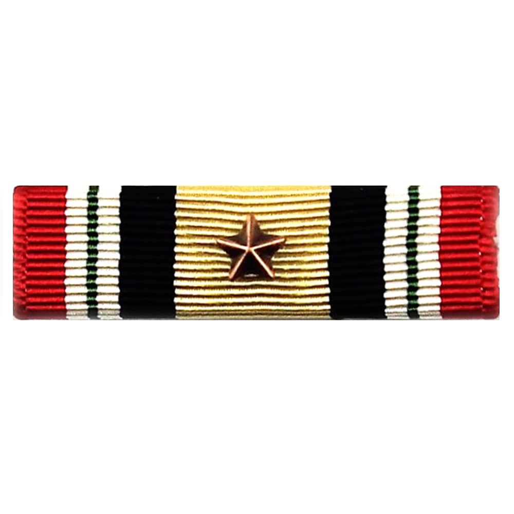 Iraq Campaign Medal Ribbon with 1 Bronze Star