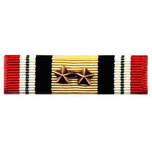 Iraq Campaign Medal Ribbon with 2 Bronze Star