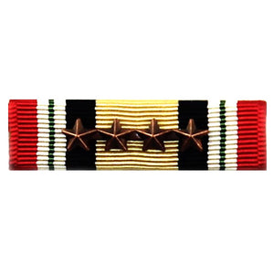 Iraq Campaign Medal Ribbon with 4 Bronze Star