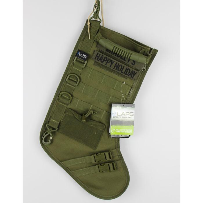 Tactical Christmas Stocking.La Police Gear Molle Elite Tactical Christmas Stocking