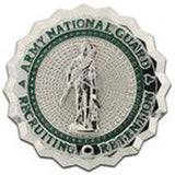 National Guard Recruiting & Retention (New Style) Mirror Finish Badge
