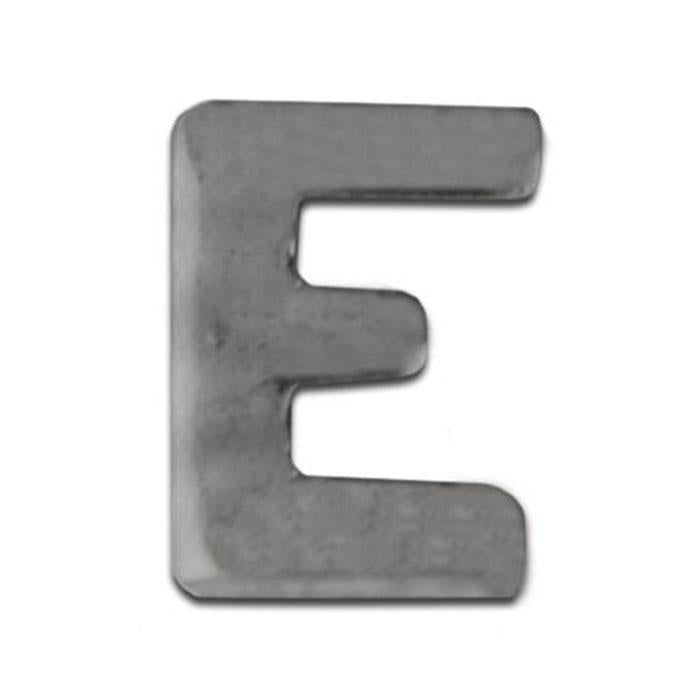 "Navy Ribbon Letter ""E"" Silver Ox"