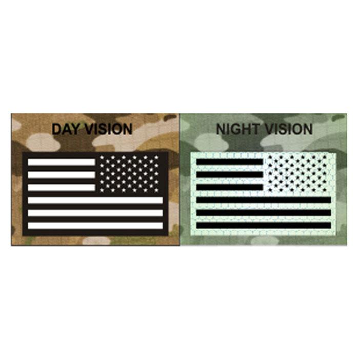 USA Reverse Facing Infrared Covert Flag Patch - IR