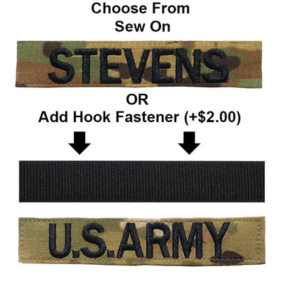 Name Tape With Hook Fastener