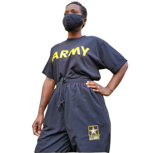Army PT Pants New Style Black and Yellow - Unisex