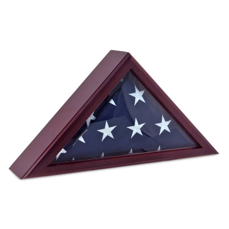Personalized Flag Display Case 5ft x 9 ft - Cherry