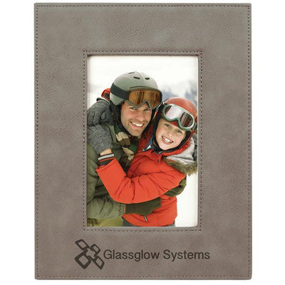 Personalized Faux Leather Picture Frame