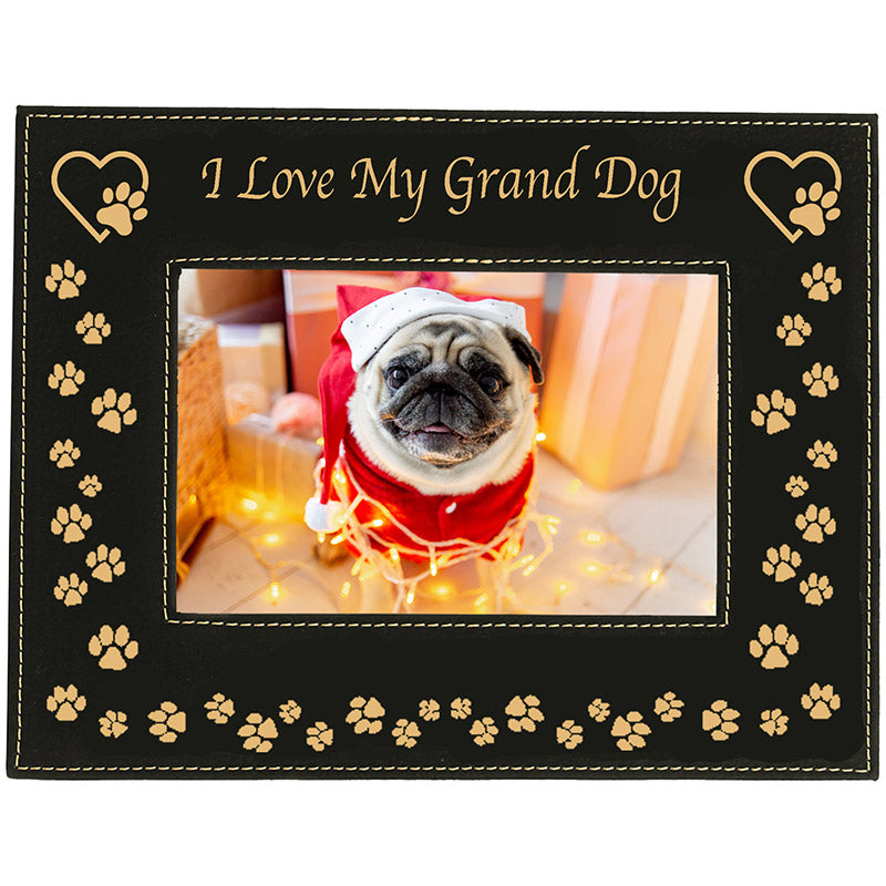 I Love My Dog Picture FrameBlack and Gold