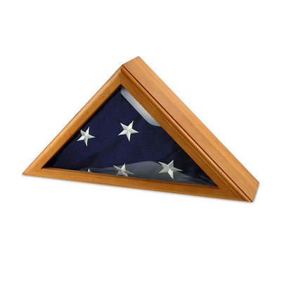 Personalized Oak Flag Display Case 5ft x 9ft With Flag