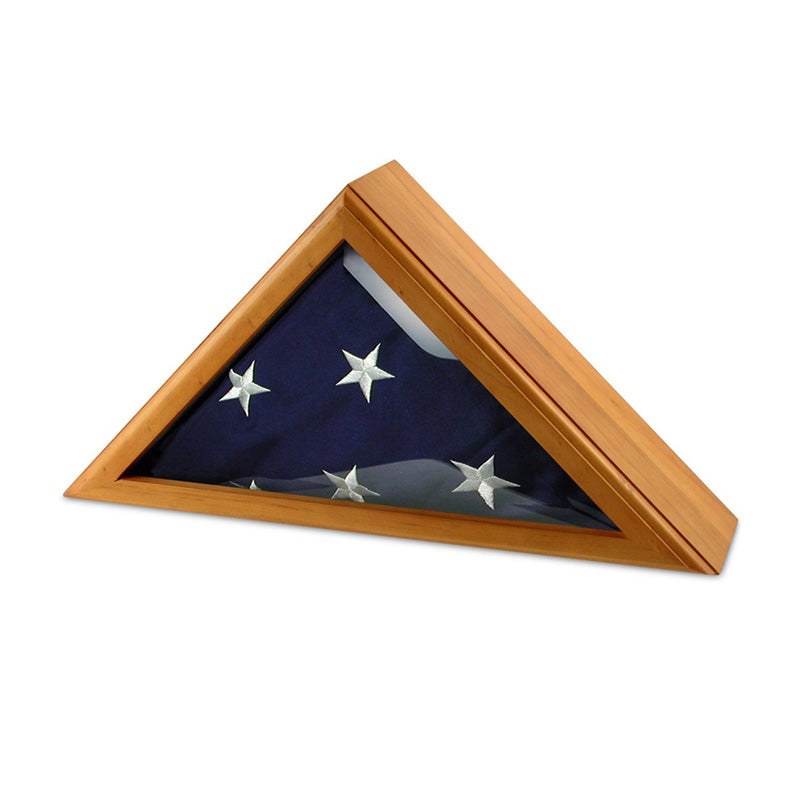 Personalized Oak Flag Display Case 3ft x 5ft
