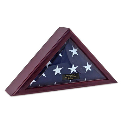 Personalized Flag Display Case - Cherry