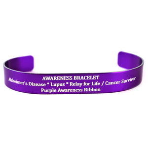 purple awareness ribbon