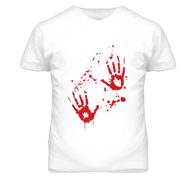 Bloody Hands Halloween T Shirt