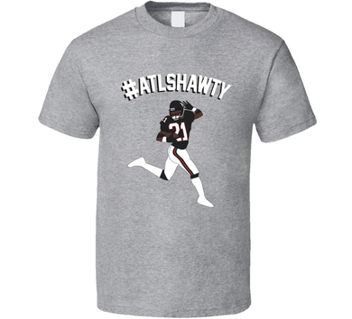 Hashtag ATLSHAWTY Deion Sanders Football T Shirt