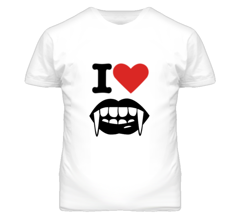 I Love Vampires Heart Halloween T Shirt