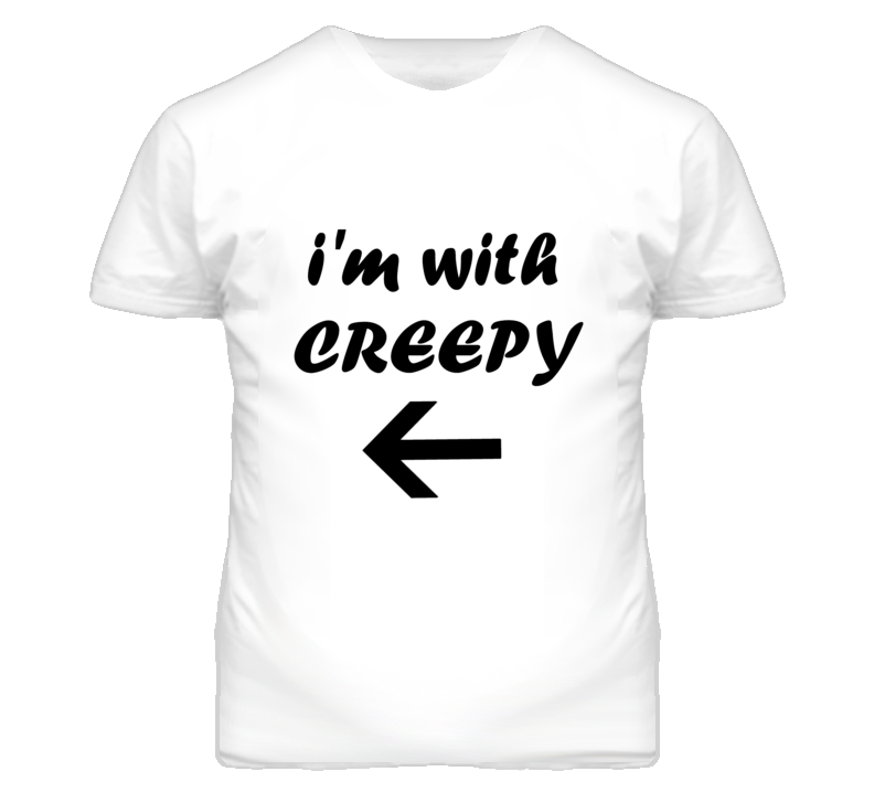 I'm With Creepy Halloween T Shirt