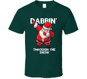 Santa Dabbing Through The Snow T Shirt