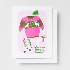 Riso Greeting Card Warmest Holiday Cat