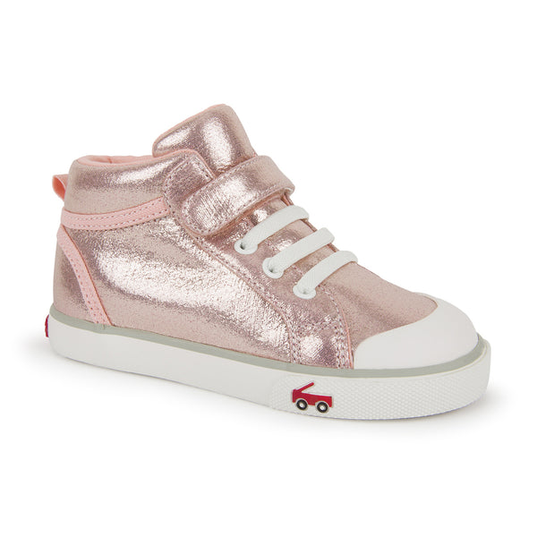 Peyton Rose Shimmer High Top Sneakers