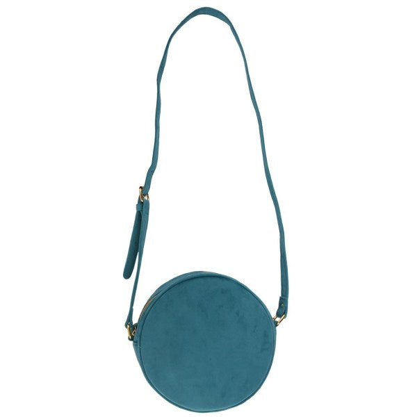 Small Moon Bag Velvet Turquoise