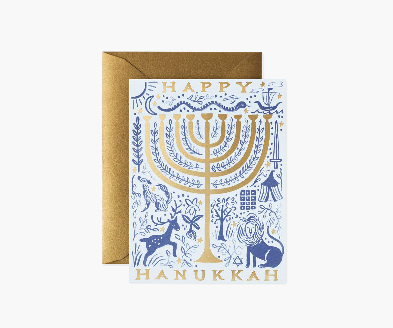 Twelve Tribes Menorah Greeting Card