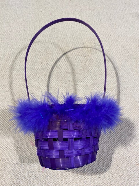 Easter Bamboo Basket - Purple