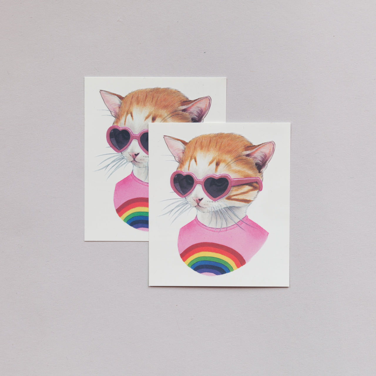 Tattoo Pair Rainbow Kitten
