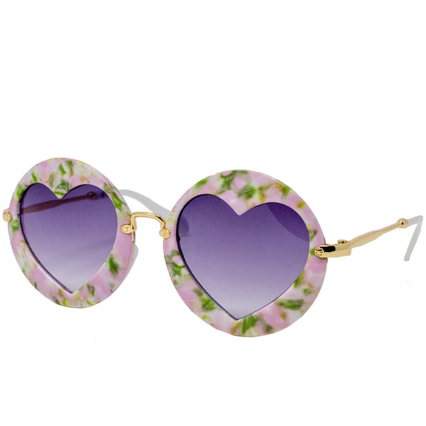 Round with Hearts Sunglasses