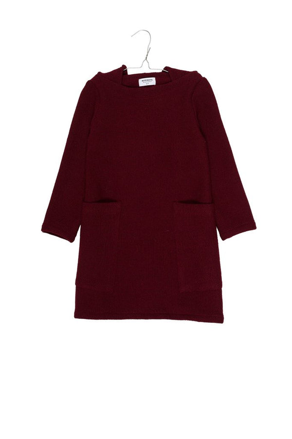 Textured Burgundy Eileen Dress