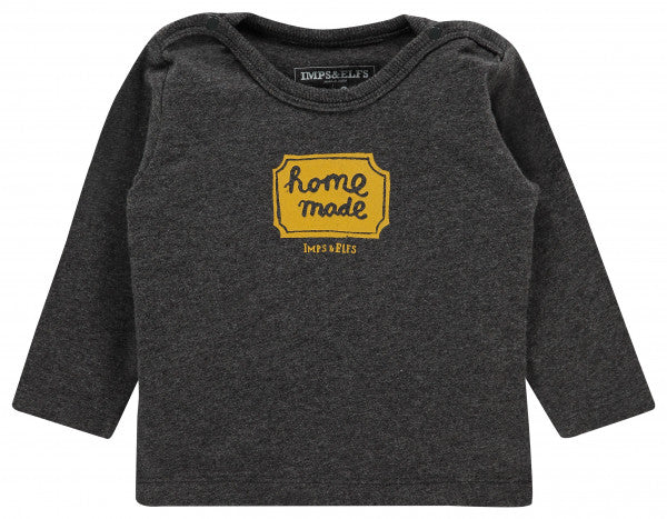 "Dark Gray ""Home Made"" Long Sleeve Ambleside Shirt"