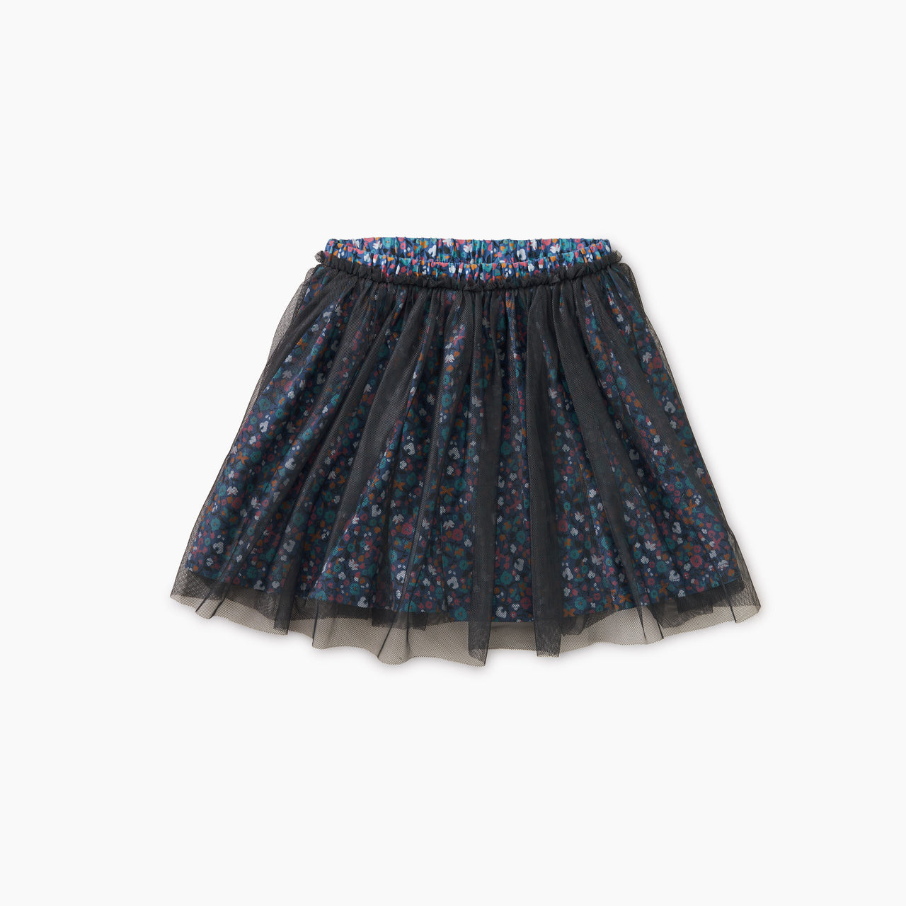 Sunrise Floral Patterned Tulle Twirl Skirt