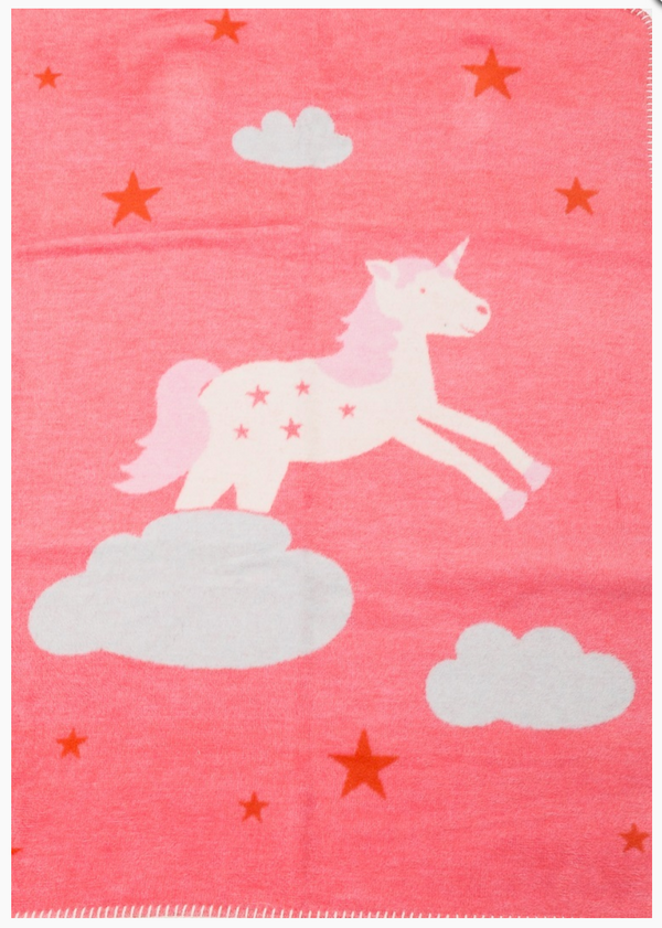 Hot Pink Unicorn/Rainbow Juwel Blanket