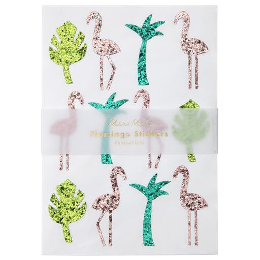 Glitter Flamingo Sticker Sheets