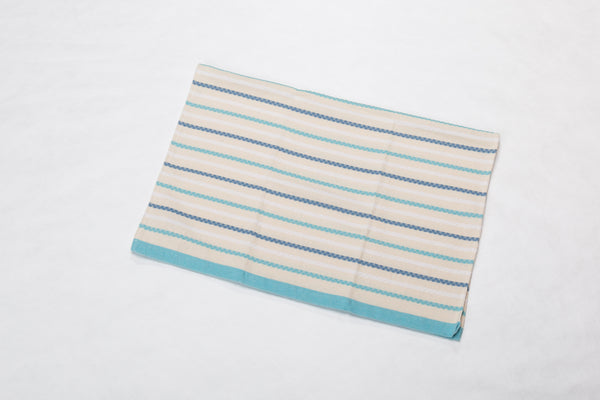 Ida Blanket Decorative Stripes Jade/Off White