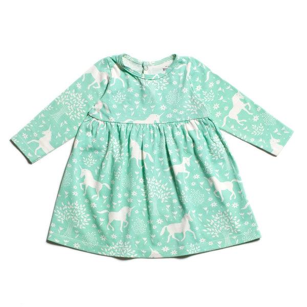 Geneva Baby Dress Magic Forest Mint