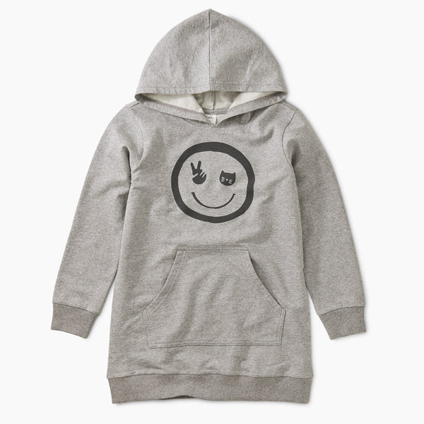 Smile Graphic Tunic Hoodie