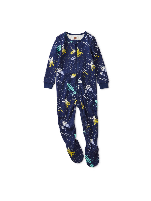 Galactic Gliders Patterned Footed Pajamas