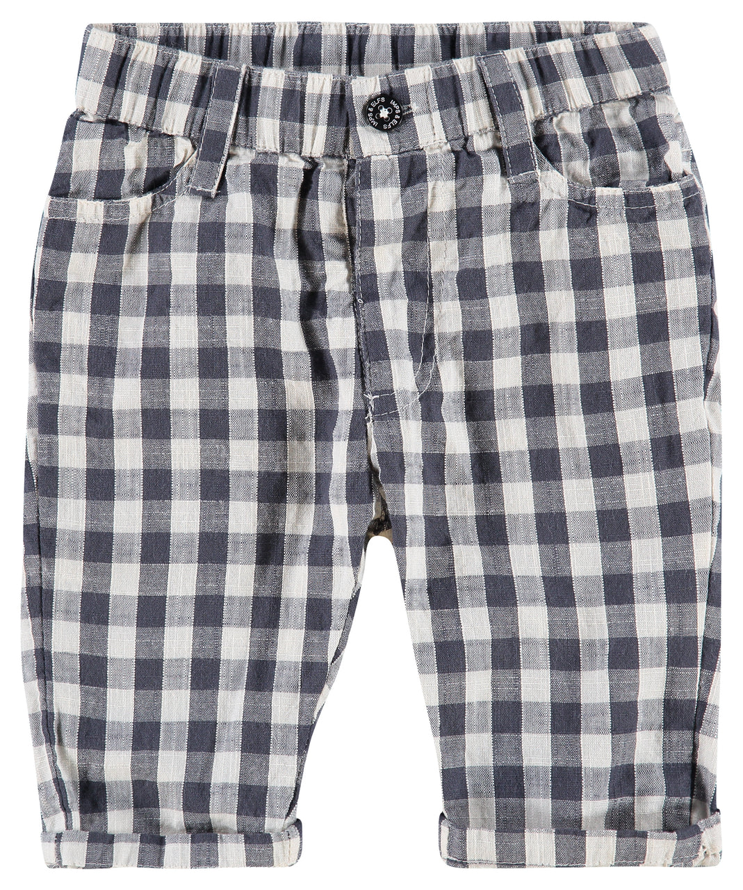 Checkered Trousers Ombre Blue