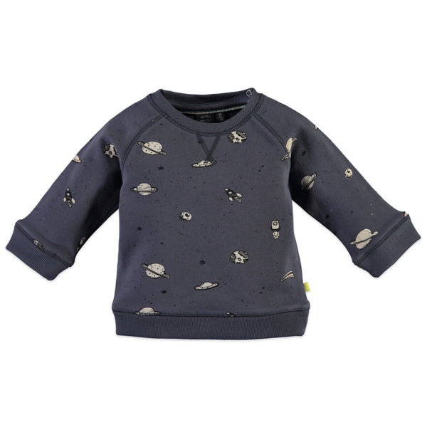 Smokey Blue Space Print Sweatshirt
