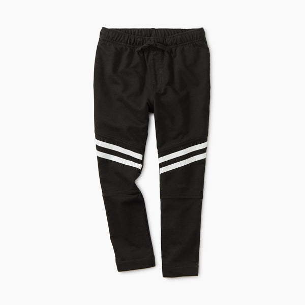 Jet Black Speedy Striped Play Pant